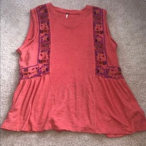 Free People Salmon Top